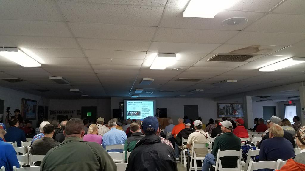 The HamSCI Forum room is packed!